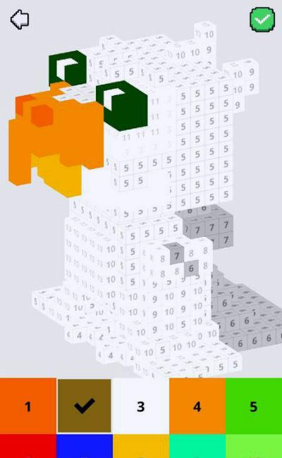 pixeles art 3D