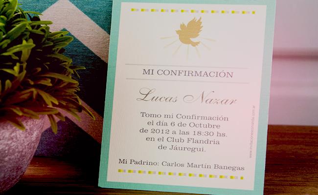 Invitaciones para confirmación