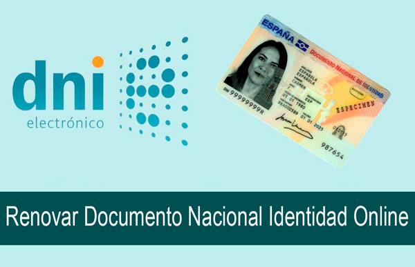 renovar el documento nacional de identidad online
